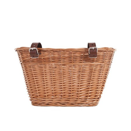Wicker bicycle basket