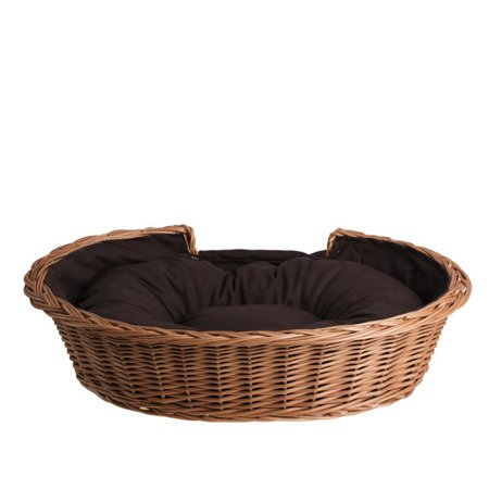 OVAL WICKER BED WITH NAME FOR PETS