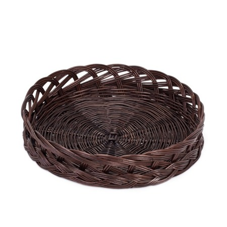 ROUND WICKER KITCHEN TRAY