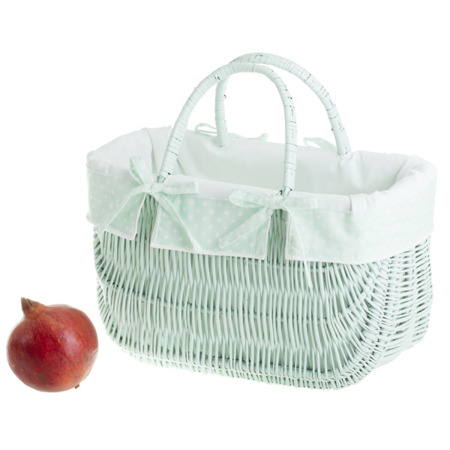 WICKER DUTCH BAG IN MINT