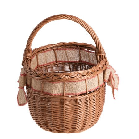 WICKER SHOPPING BASKET IN NATURAL