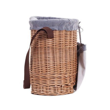 Wicker basket used to collect apples