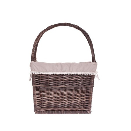 Wicker magazine newspaper rack with liner