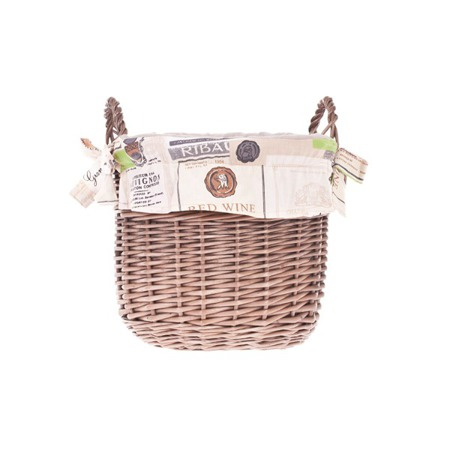 Wicker retro basket