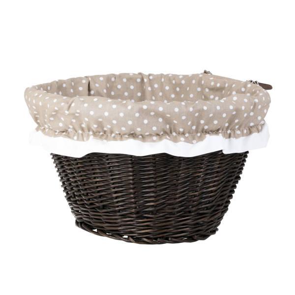 fahrradkorb aus weidengeflecht mit lederreimen und besatz fahrrad und picknickk rbe online. Black Bedroom Furniture Sets. Home Design Ideas