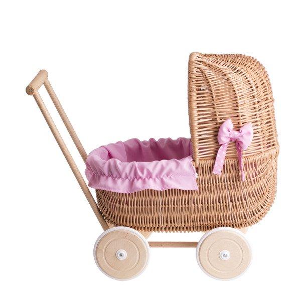 Schnelle Lieferung Puppenwagen Geflochten Aus Weidenholz Babypuppen & Zubehör Puppen & Zubehör